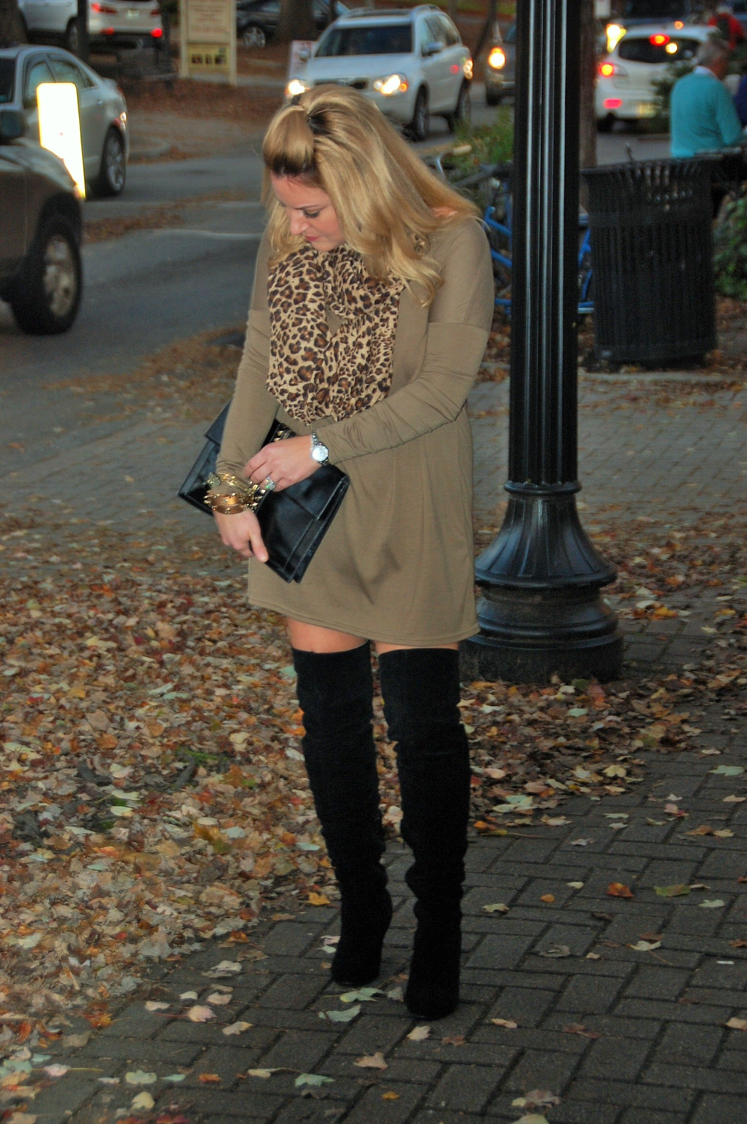 Leopard - Olive - Piko - Over the Knee Boots 2