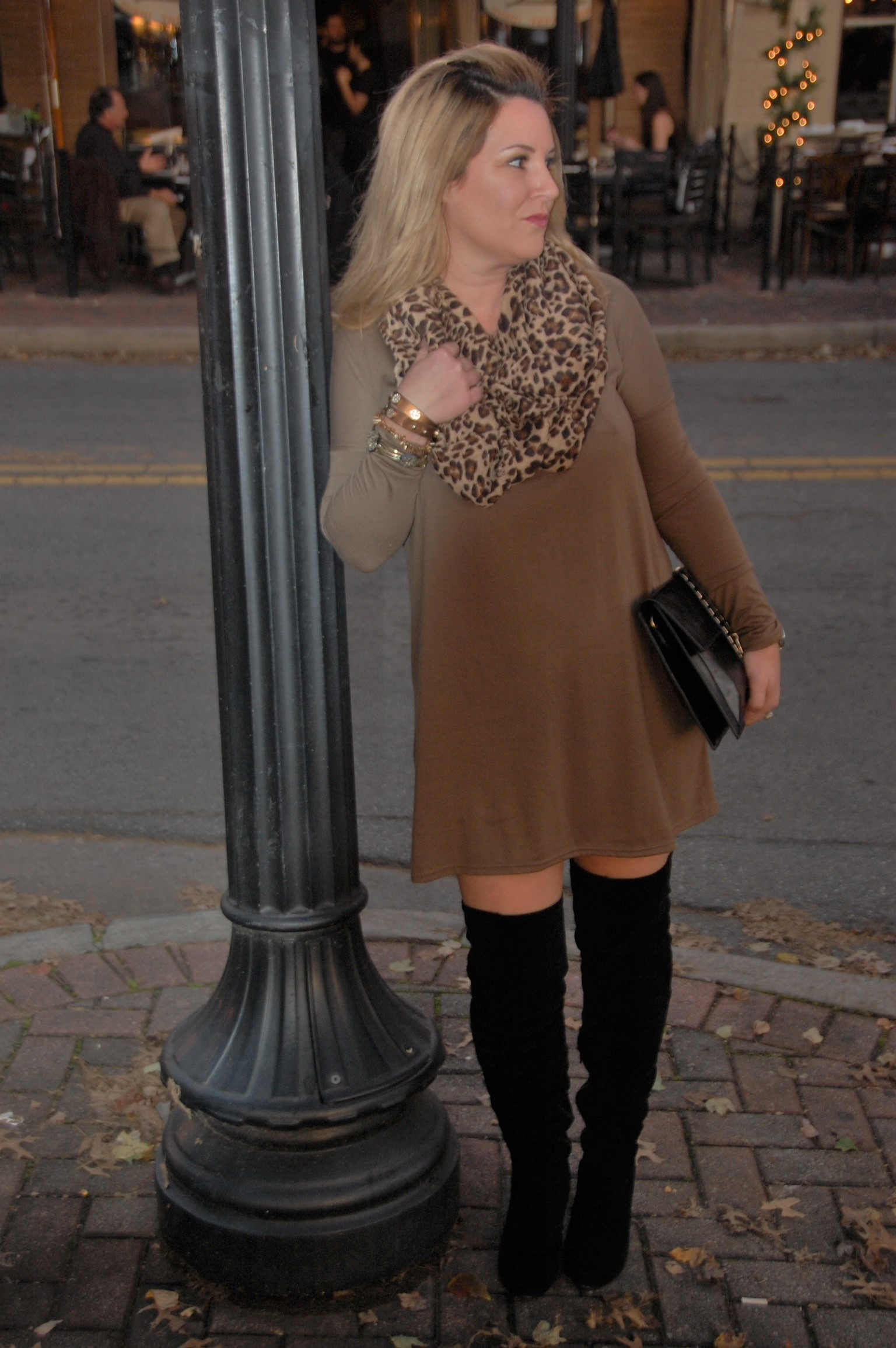 Leopard - Olive - Piko - Over the Knee Boots 7