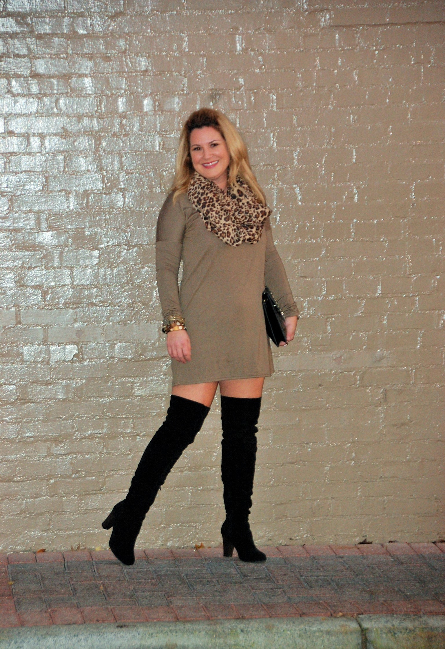 Leopard - Olive - Piko - Over the Knee Boots 8