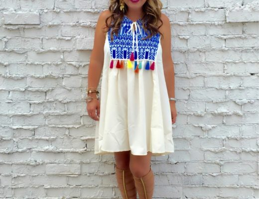 The cutest and vibrant tassel sundress from shein.com