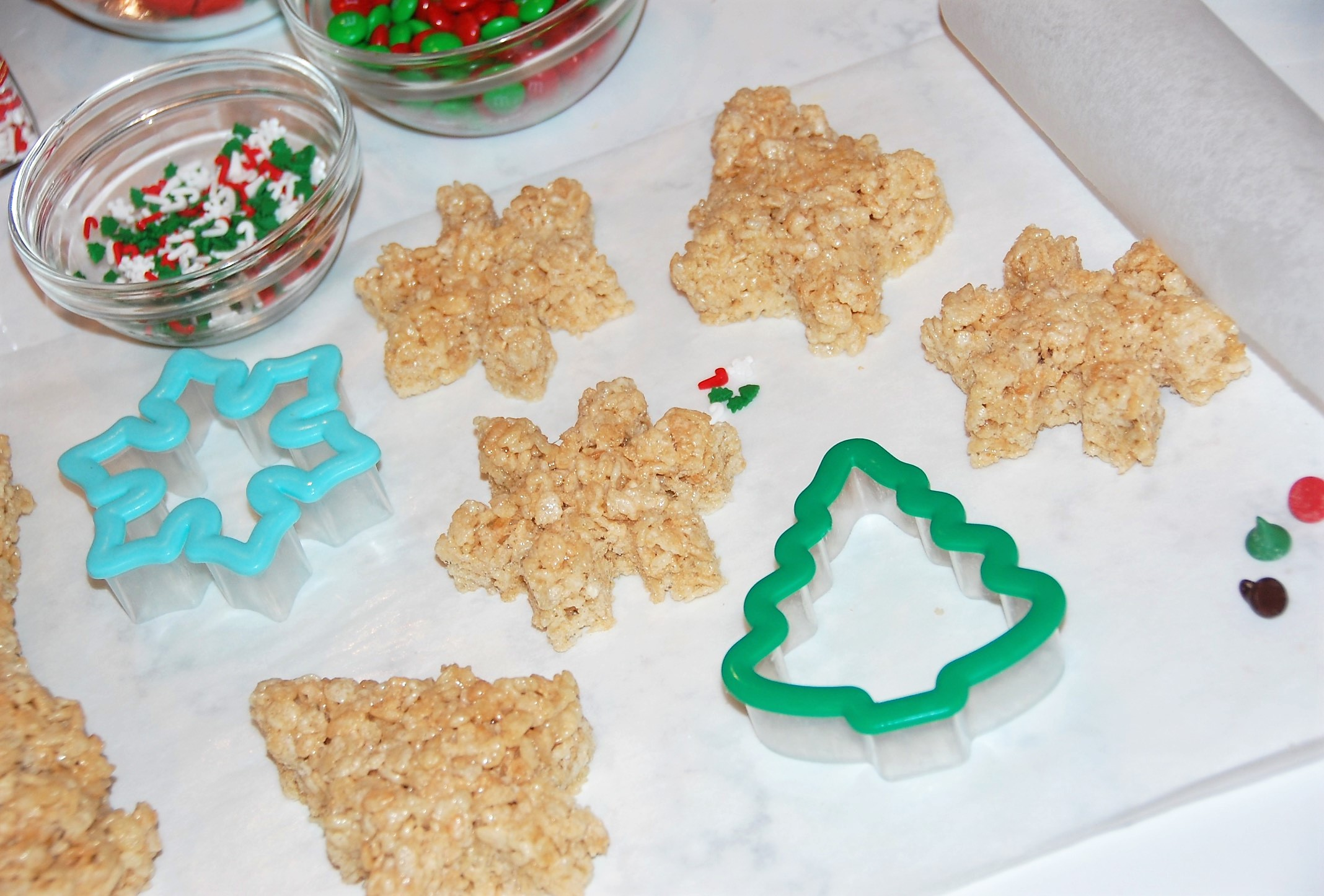 Use cookie cutters to make fun shaped Rice Krispies Treats