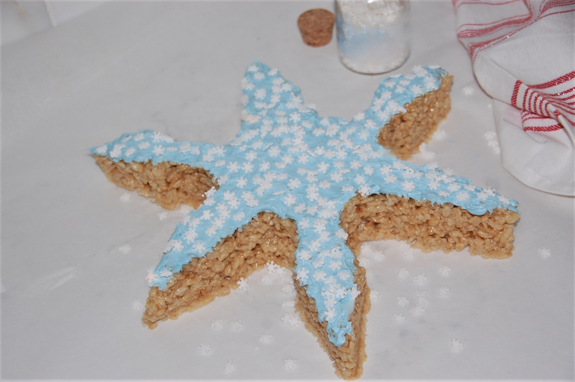 Use a giant or standard cookie cutter to make your Rice Krispies Treats into shapes