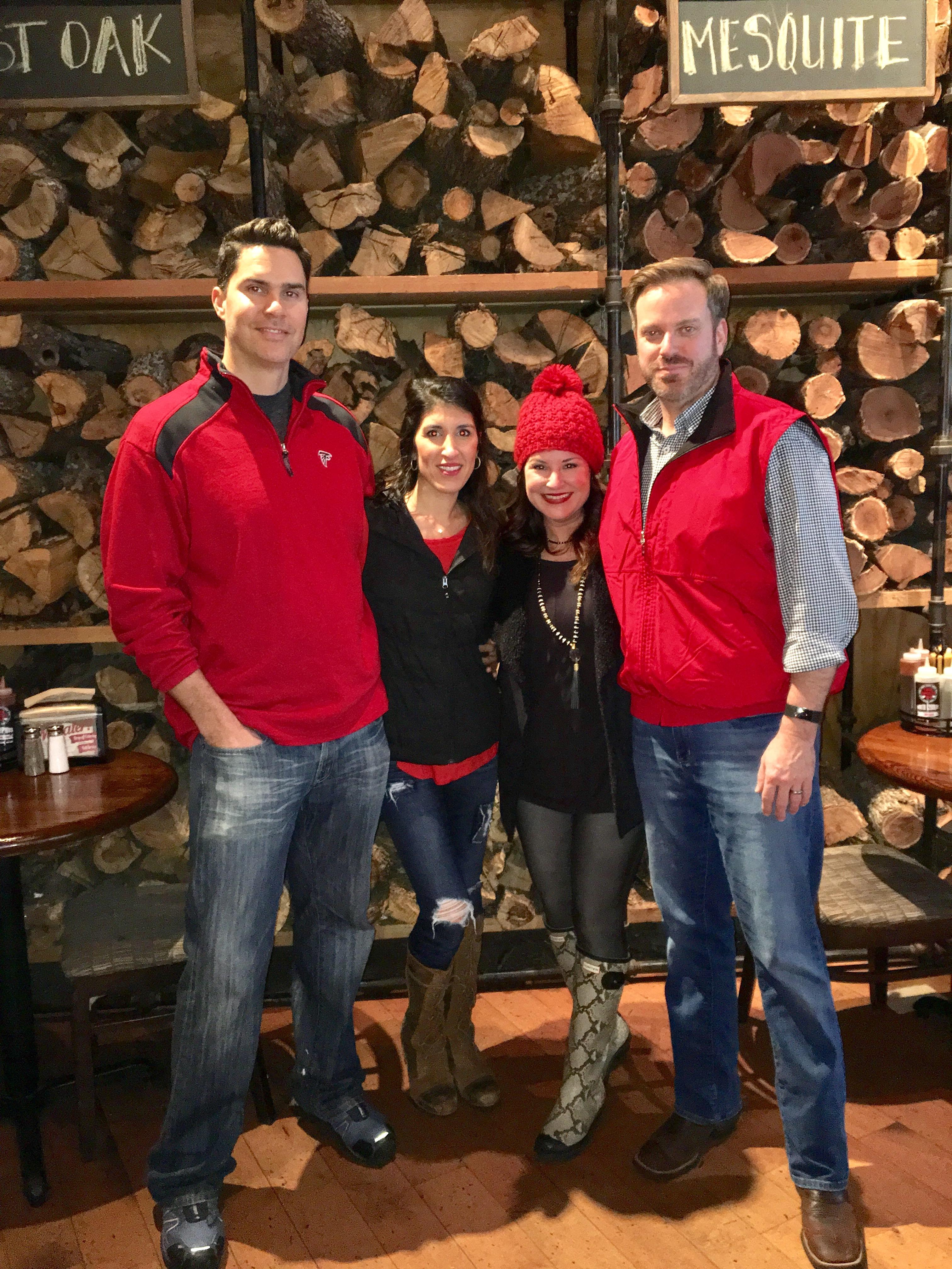 Kim and Fred Bishop and Anita and Ken Corsini at the Atlanta Falcons Championship
