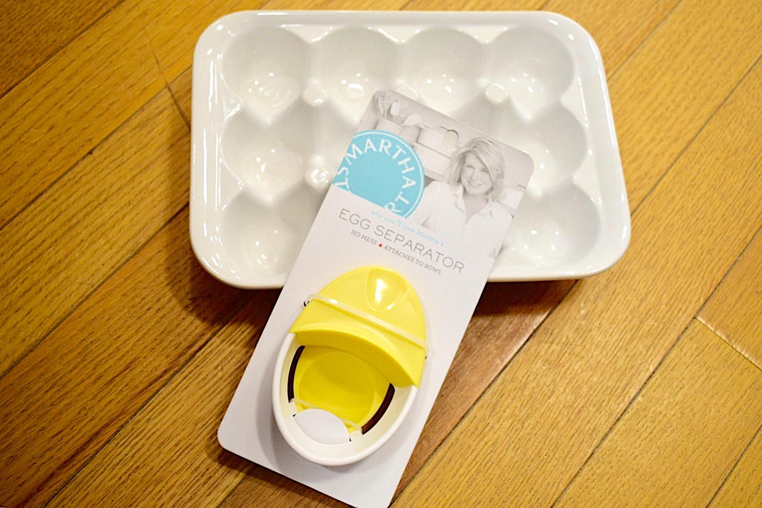 Martha Stewart Egg Separator with ceramic egg tray at Macys