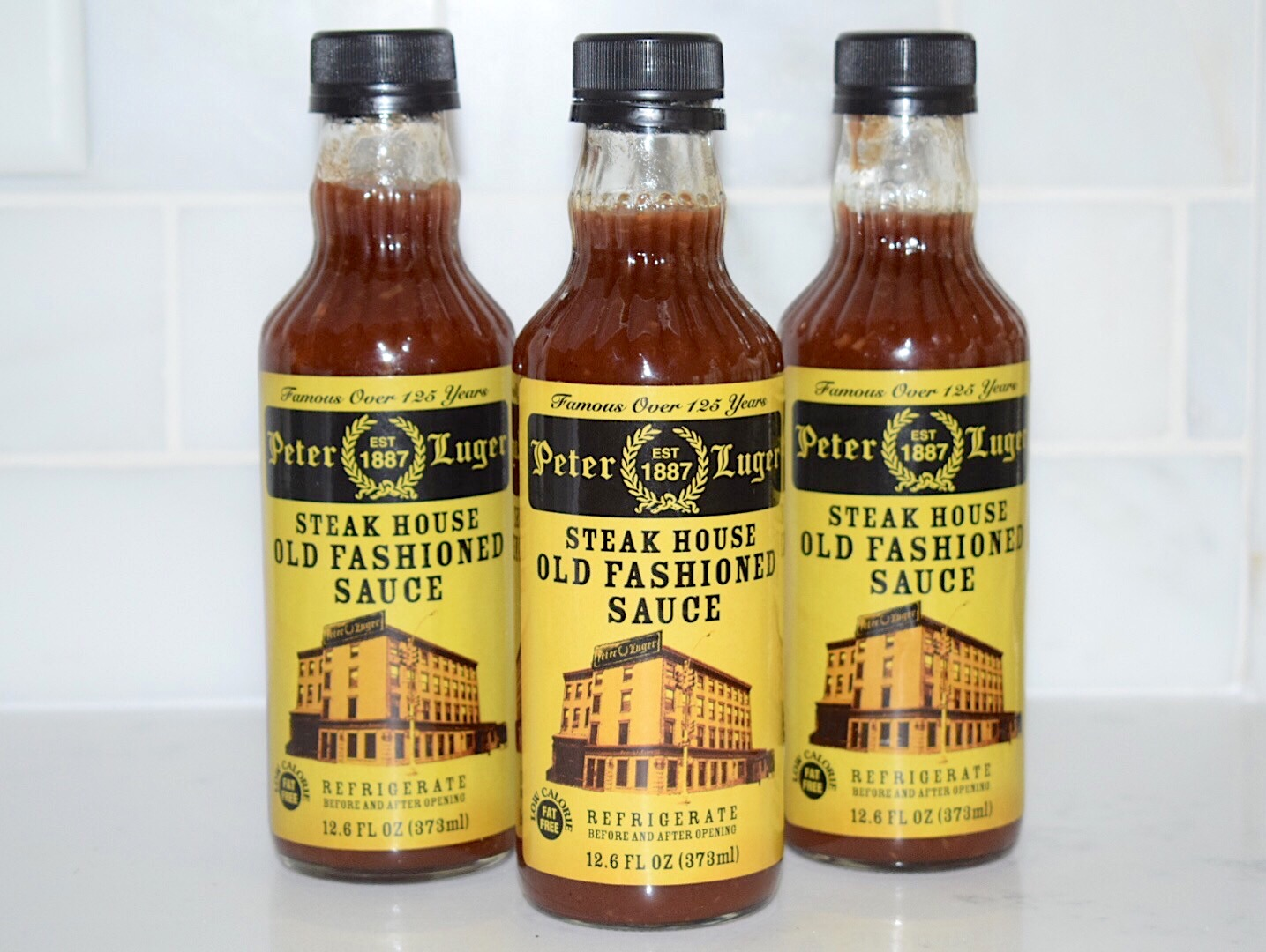 Peter Luger Steak Sauce bottles