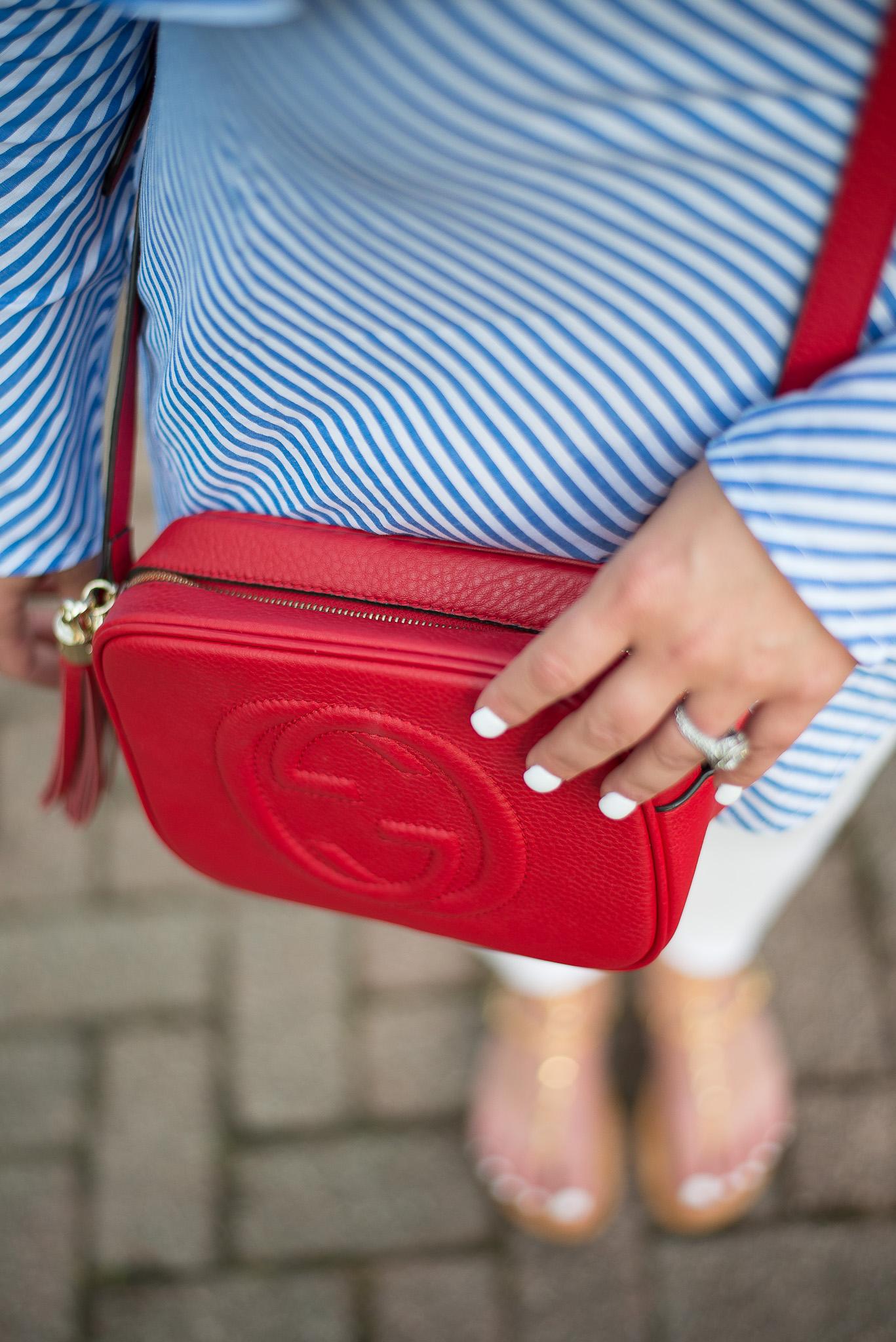 Red Gucci Soho Handbag