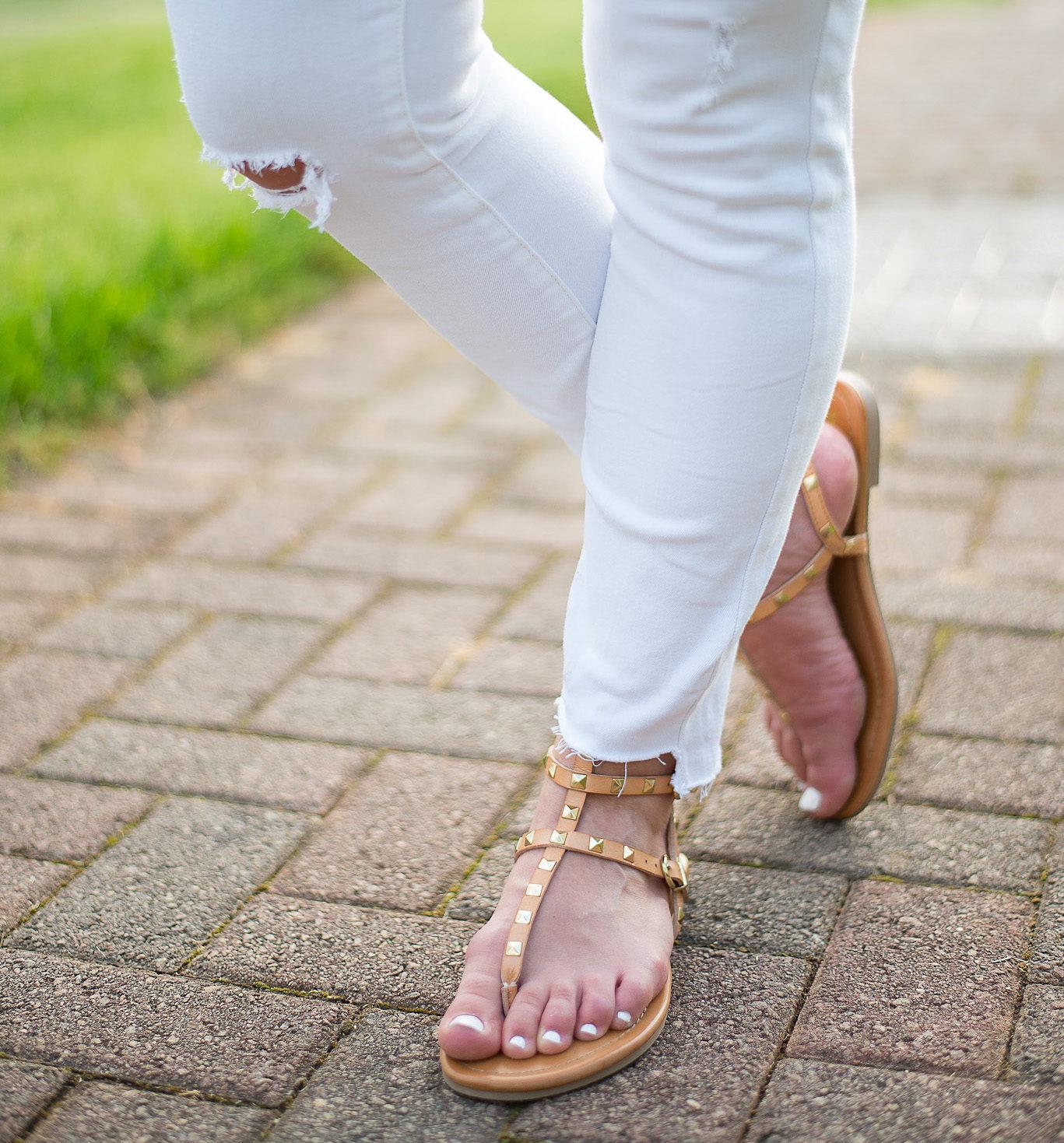 Currently Wearing: Rockstud Gladiator Sandals (affiliate link: click image for deets)!